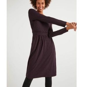 Abigail Jersey Dress Fig And Black, Maple Leaf 8L